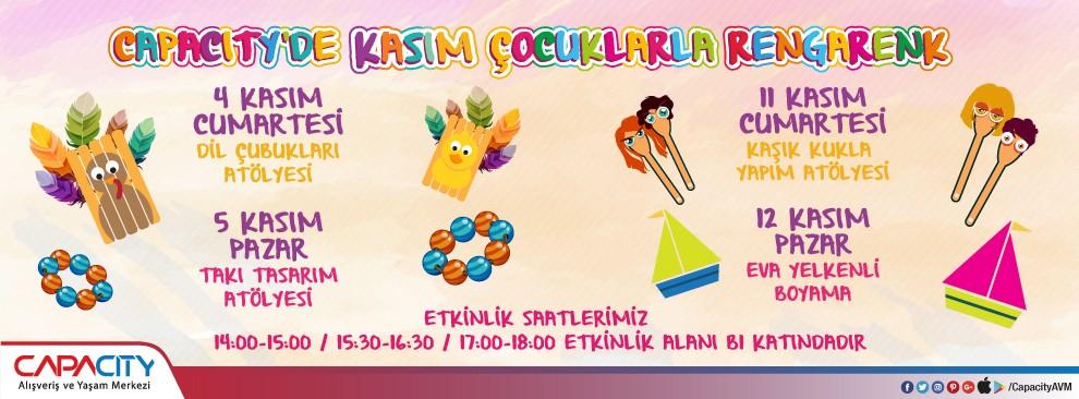 Capacity'de Kasım Çocuklarla Rengarenk