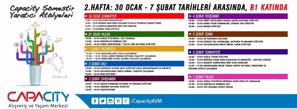 Capacity Somestir Yaratici Atolyeleri 2 Hafta 30 Ocak 2016