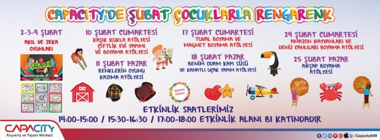Capacity'de Şubat Çocuklarla Rengarenk