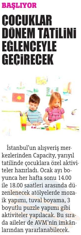 Çocuklar Dönem Tatilini Eğlenceyle Geçirecek (Türkiye)