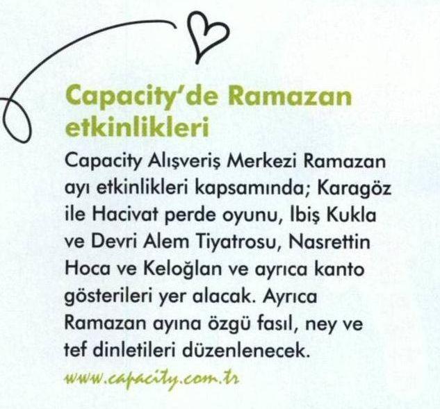 Capacity'de Ramazan Etkinlikleri (Bebeğim ve Biz)